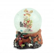 """Снежный шар """"Олень с барабаном"""", 7 см"""