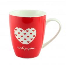 "Чашка ""Only you"" фарфор, красная"