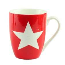 "Чашка ""Star""  красная, большая звезда"