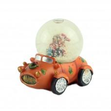 "Снежный шар ""Автомобиль"" оранжевый"