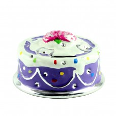 "Копилка ""Торт"", фиолетовая 14 х 9 см"