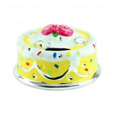 "Копилка ""Торт"", желтая 14 х 9 см"