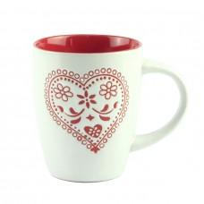 """Чашка фарфоровая """"Heart"""" белая 10 см"""
