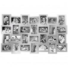 Фоторамка Collage 28, серебристая
