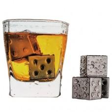 """Набор охлаждающий """" Игральные кости"""" для виски, 4шт"""