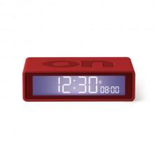 Будильник FLIP+ OFF/ON, резиновый/10,4*3*6,5 cm/красный