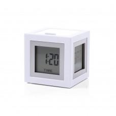 Будильник-термометр Lexon Cubissimo, белый