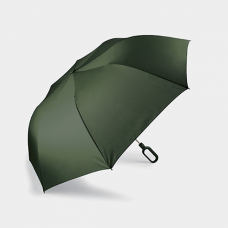 Складной зонт Mini Hook с ручкой-крюком, зеленый