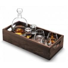 """Набор для виски """"Whisky"""" на ореховом подносе"""