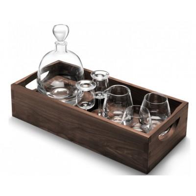 """Набор для виски """"Whisky"""" на ореховом подносе 1000 мл + 250 мл"""