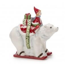 """Статуэтка """"Белый мишка с гномом"""""""