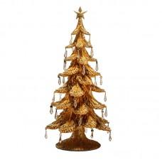 """Статуэтка """"Новогодняя елка"""" золотая, 54 см"""