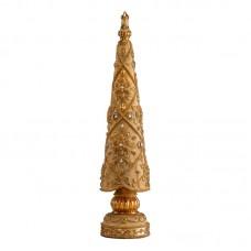 """Статуэтка """"Новогодняя елка"""" золотая с камнями, 46 см"""