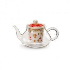 Новогодний чайник с емкостью для заварки