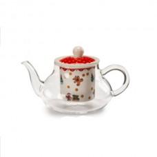 Новогодний чайник с емкостью для заварки прозрачный