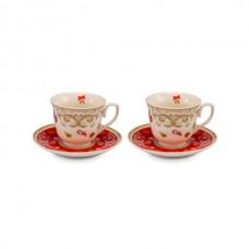 Набор для чая, 2 чашки с блюдцами, 15 см
