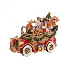 "Статуэтка  Новогодняя ""Дед Мороз в машине"""