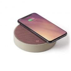 Беспроводное зарядное устройство с динамиком на 5 Вт, розовый
