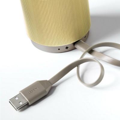 Портативный динамик Lexon Fine Speaker светлое золото