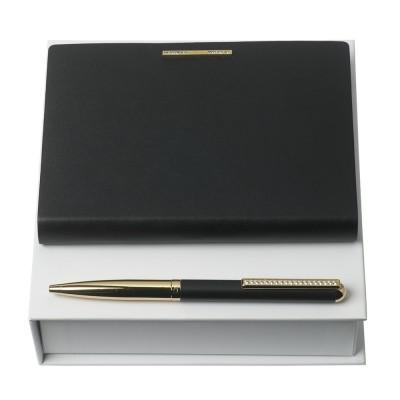 Набор блокнот и ручка A5 Barrette Noir Nina Ricci