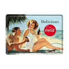 "Открытка ""Coca-Cola-Beach Couple"" Nostalgic Art (10266)"