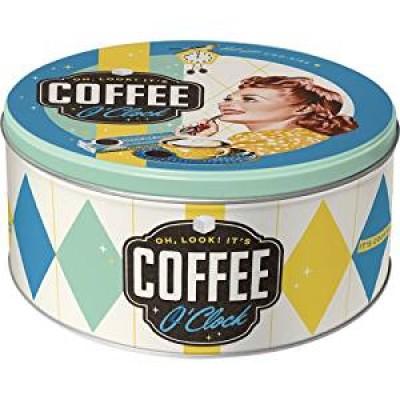 "Коробка для хранения ""Round L Coffee O'Clock"" Nostalgic Art (30606)"