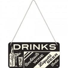 "Вывеска на шнурке ""Sing Drinks"" Nostalgic Art (28010)"