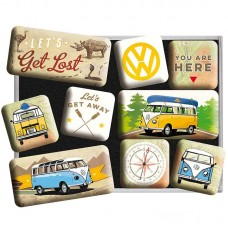 """Набор магнитов """"VW Bulli - Let's Get Lost"""""""""""