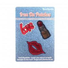 """Дисплей шевроны Iron on Patches """"Love"""""""