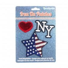 """Дисплей шевроны Iron on Patches """"Нью-Йорк"""""""
