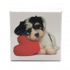 Коробка подарочная ООТВ Собака с сердцем 10 х 10 см