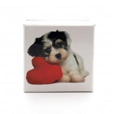 Коробка подарочная ООТВ Собака с сердцем 8 х 8 см