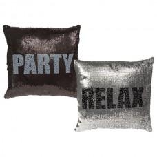 """Подушка антистресс с пайетками-перевертышами """"Relax & Party"""""""