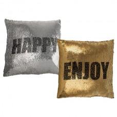"""Подушка антистресс с пайетками-перевертышами """"Enjoy & Happy"""""""