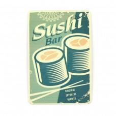 """Магнит винтаж """"Суши"""", металл, 10 х 8 см"""