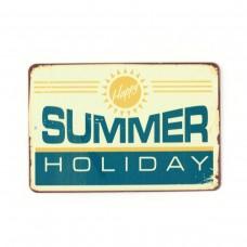 "Магнит винтаж ""Summer Holiday"", металл, 10 х 8 см"
