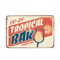 "Магнит винтаж ""Tropical Bar"", металл, 8 х 10 см"