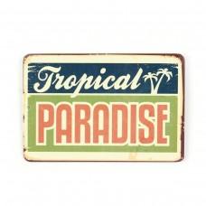 "Магнит винтаж ""Tropical Paradise"", металл, 10 х 8 см"
