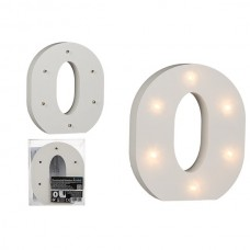 Буква О декоративная с LED подсветкой 16 см