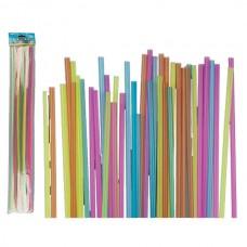 Соломинки для напитков ООТВ размера XXL разноцветные (40 шт)