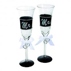 "Набор бокалов для шампанского ""Mr. & Mrs."""