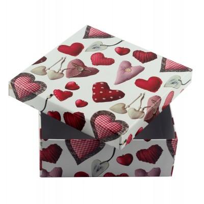 Коробка подарочная ООТВ Heart 18 х 18 х 7 см
