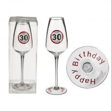Бокал ООТВ для шампанского Happy Birhday 30