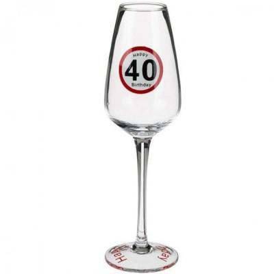 Бокал ООТВ для шампанского Happy Birhday 40