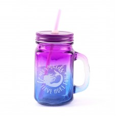 """Кружка стеклянная ООТВ """"Mermaid"""", фиолетово-синяя, 450 мл"""