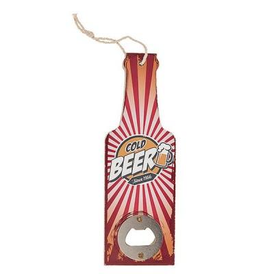 """Открывашка """"Бутылка Cold Beer""""с деревянной ручкой, 20 см"""
