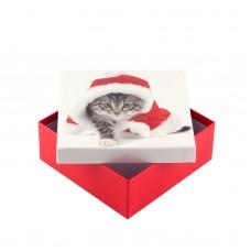 Коробка подарочная ООТВ Santa Cat 16 х 16 х 8 см