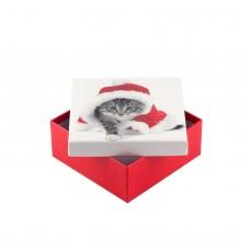 Коробка подарочная ООТВ Santa Cat 12 х 12 х 8 см