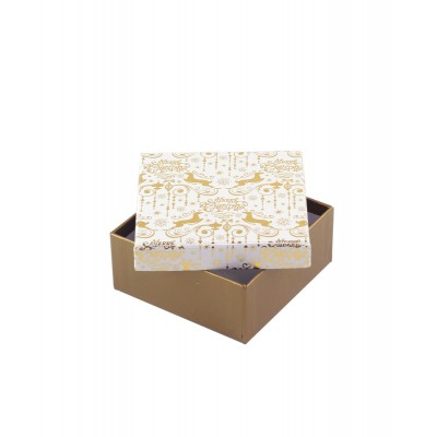 Коробка подарочная ООТВ Gold 12х12х8 см