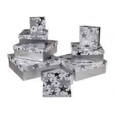 "Коробка подарочная серебро ""Звезда"", 18см"